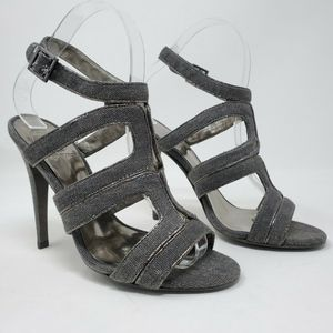 TORY BURCH Gray Strappy high Heels sandals